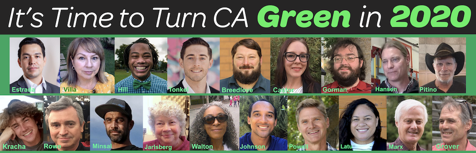 2020 California Green Party Candidates