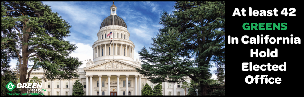 At least 42 Greens in California Hold Elected Office