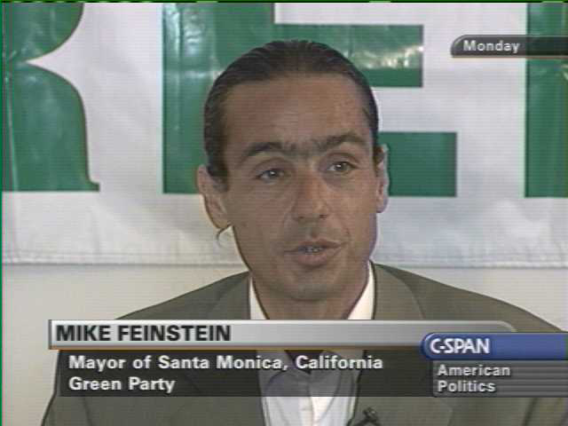 Mike Feinstein, Application for Delegate, Green Party of the ...